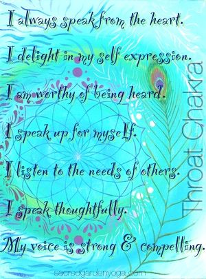 Day Forty-Eight: Lesson 4-Visuddha/The Throat Chakra-There's